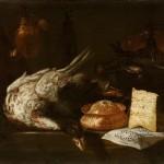 Master S.B. active, Rome 1633–1655 Kitchen still life (Natura morta di cucina) 1640s oil on canvas 78.0 x 151.0 cm Museo Nacional del Prado, Madrid (P01990) Spanish Royal Collection Museo Nacional del Prado