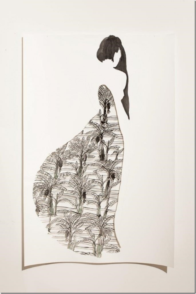 Sangeeta Sandrasegar, 'I listen for you 9', 2014, cut paper and watercolour, approx. 150 x 100 cm each, Photo: Ari Hatzis, courtesy of the artist and Murray White Room, Melbourne.