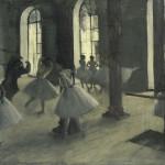 Edgar Degas Rehearsal hall at the Opéra, rue Le Peletier 1872 oil on canvas 32.7 x 46.3 cm Musée d'Orsay, Paris (RF 1977) © RMN-Grand Palais (Musée d'Orsay) / Hervé Lewandowski