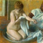 Edgar Degas Woman in a tub c. 1883 pastel 70.0 x 70.0 cm Tate, London Bequeathed by Mrs A.F. Kessler 1983 (T03563) © Tate, London 2016
