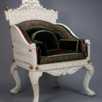 The Throne Chair - A Symbol of Status from Antiquity to the Present Day for the Robert Wilson Annual Decorate Arts Lecture 2017. Queen Victoria's Ivory Throne, India 1840-50, The Royal Collection © Her Majesty The Queen (RCIN 1561) © Her Majesty The Queen