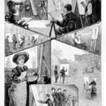 """Image: Samuel Calvert, """"Sketches at the School of Design [at the National Gallery School]"""", 30 April 1887, wood engraving, Illustrated Australian News; Source: State Library of Victoria"""